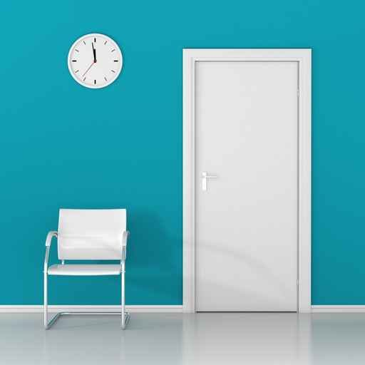 a-wall-clock-and-white-chair-in-the-waiting-room-123